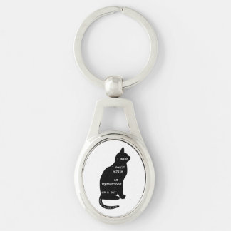 Mysterious as a Cat Edgar Allan Poe Quote Keychain