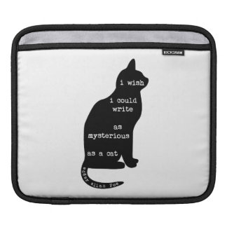 Mysterious as a Cat Edgar Allan Poe Quote Sleeve For iPads