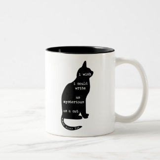 Mysterious as a Cat Edgar Allan Poe Quote Two-Tone Coffee Mug