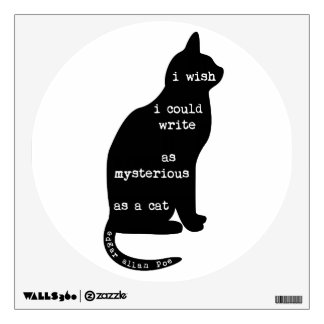 Mysterious as a Cat Edgar Allan Poe Quote Wall Decal