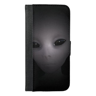 Mysterious black Alien iPhone 6/6s Plus Wallet Case