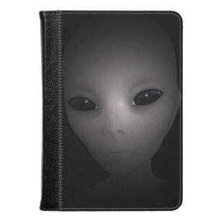 Mysterious Black Alien Kindle Case at Zazzle