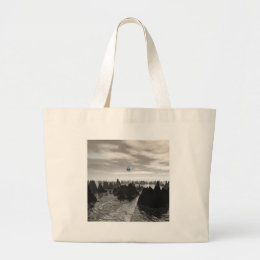 Mysterious Blue Orbs Large Tote Bag