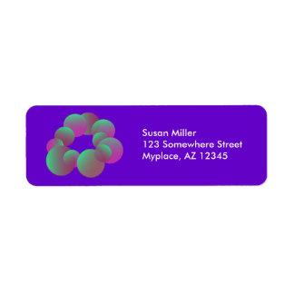 Mysterious bubbles Return Address Label