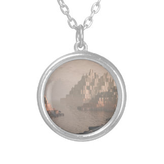 Mysterious Canyon River Silver Plated Necklace