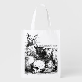 Mysterious Cats Reusable Grocery Bag