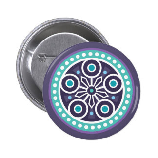 Mysterious Circle Pattern 2 Inch Round Button
