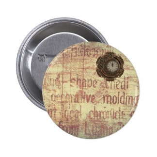 Mysterious Clock Pinback Button