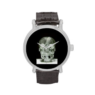 Mysterious Crystal skuill watch