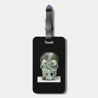 Mysterious crystal skull luggage tag