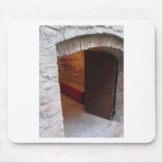 Mysterious door, secret entrance mouse pad