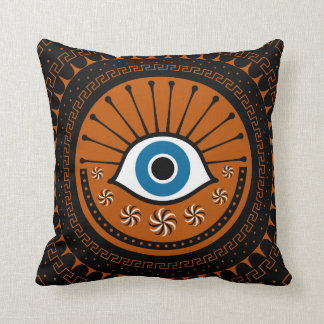 mysterious eye throw pillow