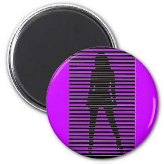 Mysterious Female Sihouette Magnet
