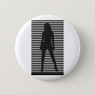 Mysterious Female Sihouette Pinback Button