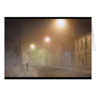 Mysterious Galway Fog- Film Noir Vibe Card