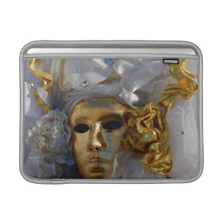 Mysterious Golden Carnival Mask MacBook Sleeve