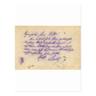 Mysterious handwriting - postal card mailed 1897