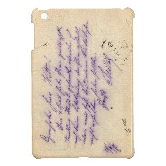 Mysterious handwriting - postal card mailed 1897 iPad mini cases