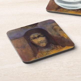 Mysterious Head by Odilon Redon Coaster