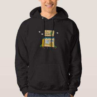 Mysterious Ice Cream Shop - Dark Hooded Sweatshirt