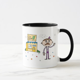 Mysterious Ice Cream Shop - Ringer Mug