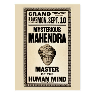 Mysterious Mahendra magician 1920s vintage Postcards
