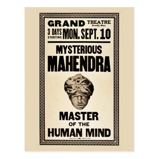 Mysterious Mahendra magician 1920s vintage Postcard