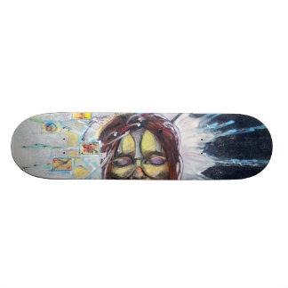 Mysterious Masked Meditation Skateboard