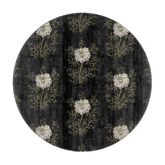 Mysterious Medieval Flower Pattern Cutting Board