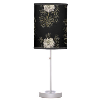 Mysterious Medieval Flower Pattern Desk Lamps