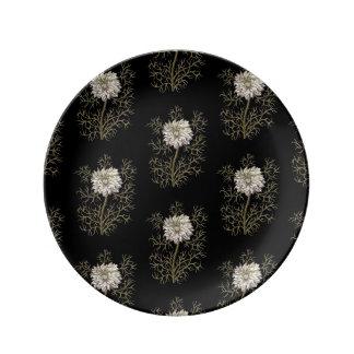 Mysterious Medieval Flower Pattern Dinner Plate