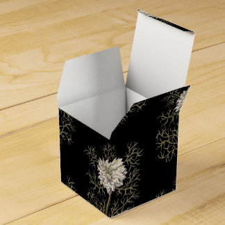 Mysterious Medieval Flower Pattern Favor Box