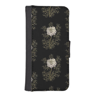 Mysterious Medieval Flower Pattern iPhone SE/5/5s Wallet Case