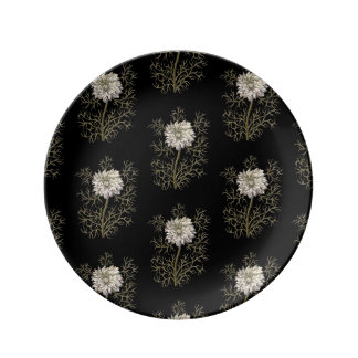 Mysterious Medieval Flower Pattern Porcelain Plates