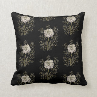 Mysterious Medieval Flower Pattern Pillow