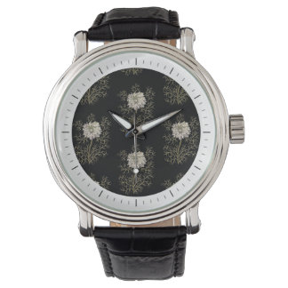 Mysterious Medieval Flower Pattern Wrist Watches