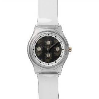 Mysterious Medieval Flower Pattern Wristwatches
