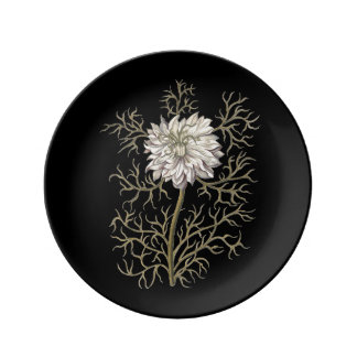 Mysterious Medieval Flower Plate