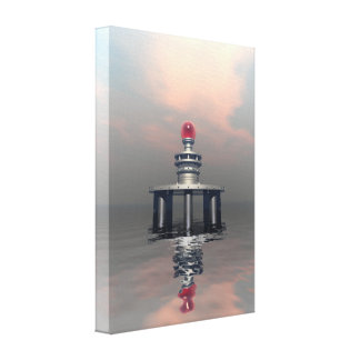 Mysterious Metallic Structure Gallery Wrap Canvas