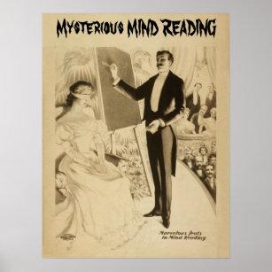 Magician illusionist vaudeville posters photo prints zazzle mysterious mind reading act vaudeville poster maxwellsz