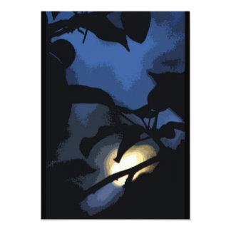 Mysterious Moon Halloween 5x7 Paper Invitation Card