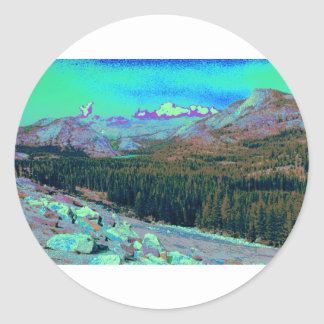 Mysterious Mountains 1 Classic Round Sticker