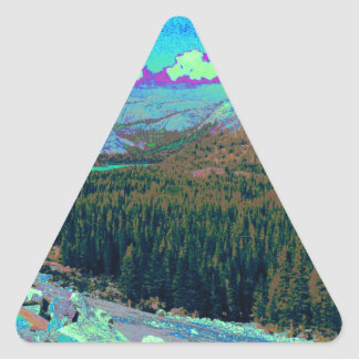 Mysterious Mountains 1 Triangle Sticker