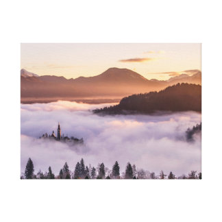 Mysterious mountains canvas print