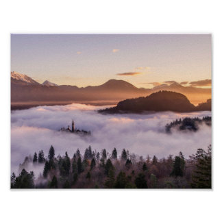 Mysterious mountains poster