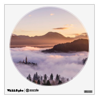 Mysterious mountains wall sticker