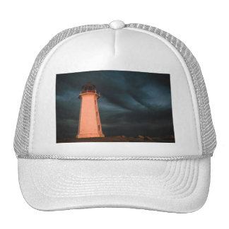 Mysterious Night at Peggy s Cove Nova Scotia Can Trucker Hats