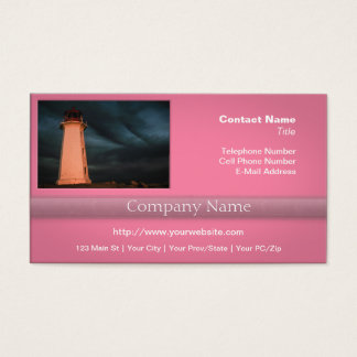 Mysterious Night at Peggy's Cove, Nova Scotia, Can Business Card