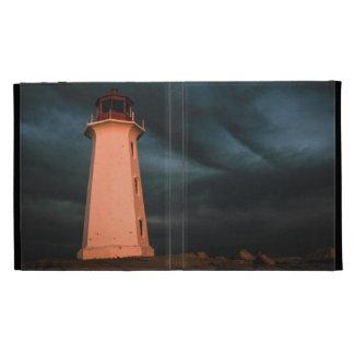 Mysterious Night at Peggy's Cove, Nova Scotia, Can iPad Folio Case