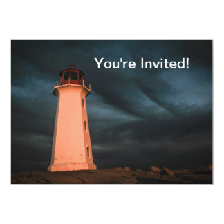 Mysterious Night at Peggy's Cove, Nova Scotia, Can Personalized Invitation